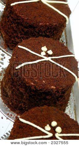 Triad Of Individual Mini Chocolate Mousse Cakes