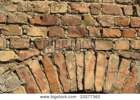 Old Decorative Brick Wall