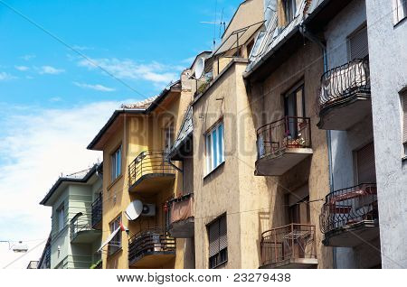 Authentic Hungarian Apartments With Blue Sky