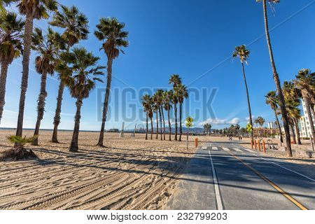 Santa Monica Bike Path At