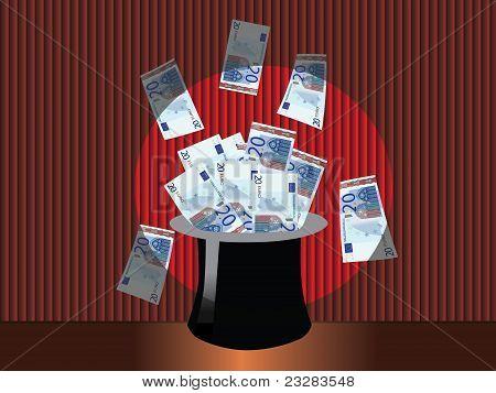 Magic money hat