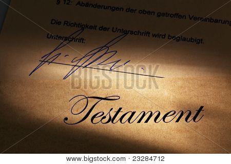 Testament in German