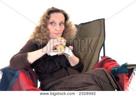 Woman, Lunch Break