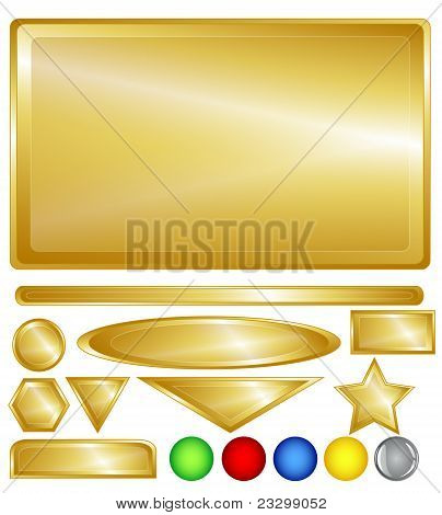 Gold Web Buttons And Bars