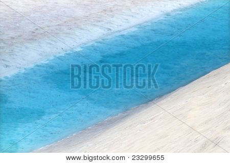Vivid Blue Snowmelt Pool