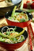 Rice Noodles In Spicy Sauce. poster