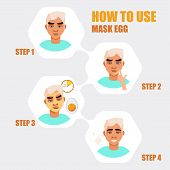 Face Mask. Beauty Men With Face Mask. Different Face Mask Moisturizing, Nourishing, Cleansing, Rejuv poster