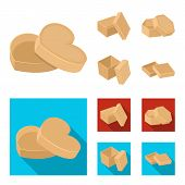 Box, Container, Package, And Other  Icon In Cartoon, Flat Style.case, Shell, Framework Icons In Set  poster