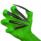 stock photo of wiccan  - Evil green claw - JPG