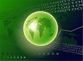 image of dtp  - Binary background with green globe - JPG