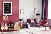 Gold And Red Living Room poster