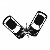 Hard Collision Icon. Simple Illustration Of Hard Collision Vector Icon For Web poster