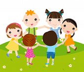 foto of children group  - group of children - JPG
