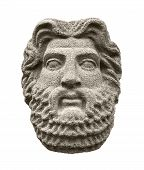 Sculptural Head Of God Zeus (jupiter), The Supreme Deity In The Ancient Greek And Roman Religion. Is poster