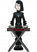 Illustration Music Band Cartoon Character In Goth Subculture Outfit poster