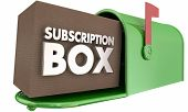 Subscription Box Service Delivery Mailbox 3d Illustration poster