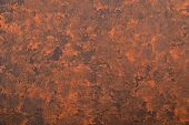 Abstract Textured Background Of Putty, Painted In Rusty-brown Color. Uneven Rough Texture. Abstract  poster