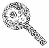 Search Gears Tool Mosaic Of Cogwheels. Vector Tooth Gear Items Are United Into Search Gears Tool Com poster
