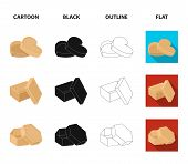 Box, Container, Package, And Other  Icon In Cartoon, Black, Outline, Flat Style.case Shell Framework poster