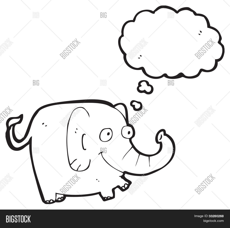 cartoon elephant remembering image u0026 photo bigstock