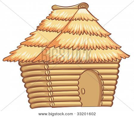 illustration of a light colorded hut - EPS VECTOR format also available in my portfolio.