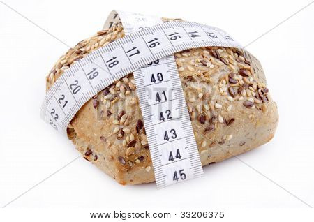 Multigrain Roll With Measuring Tape