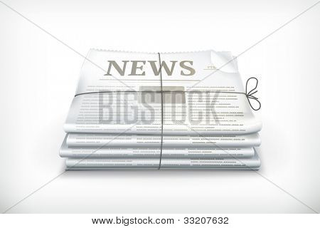 Stack of newspapers, bitmap copy
