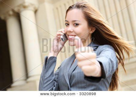 Successful Pretty Business Woman