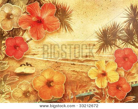tropical vintage beach