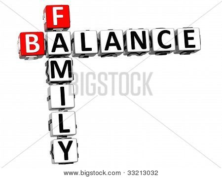 3D Family Balance Crossword