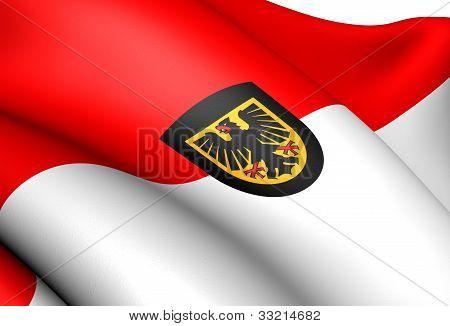Flag Of Dortmund, Germany.