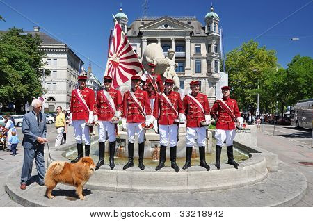 ZURICH - AUGUST 1: Parade on the Swiss National Day August 1, 2010 in Zurich, Switzerland.