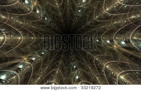 Abstract Tunnel, Perspective View