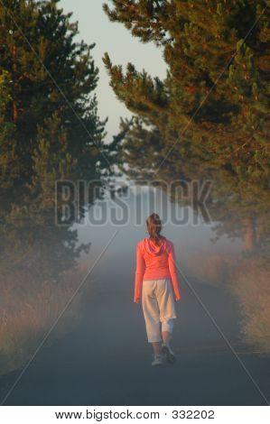 Young Girl Walkin