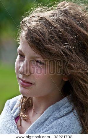 10 Year Old Girl Portrait Wistful
