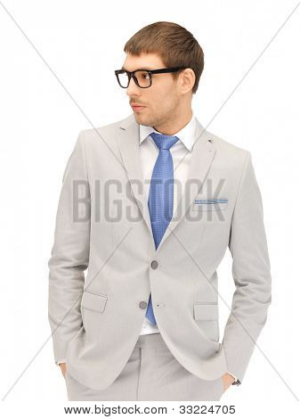 portrait picture of calm businessman in spectacles