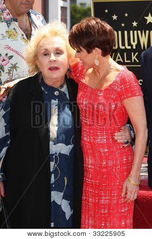 LOS ANGELES - MAY 22: Patricia Heaton, Doris Roberts at a ceremony honoring Patricia Heaton with a Star on The Hollywood Walk of Fame on May 22, 2012 in Los Angeles, California