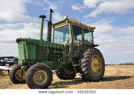 Tractor In A Farm Field