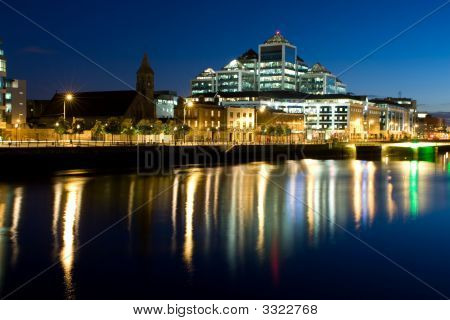 Docklands Building At Dusk