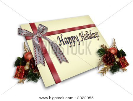 Christmas Gift Card Illustration 3D