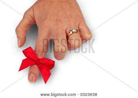 Ribbon On Finger