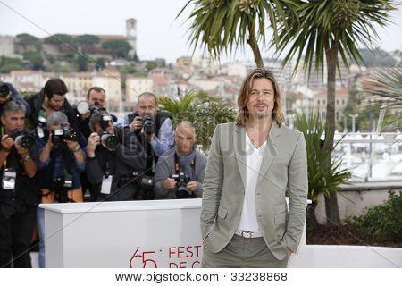 Cannes, Frankreich 22. Mai: Schauspieler Brad Pitt der 65. jährlichen Cannes ist film Festival zur Förderung des m