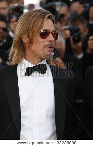 CANNES, Frankreich - 22. Mai: Schauspieler Brad Pitt ist der 65th Annual Cannes Film Festival zur Förderung der m