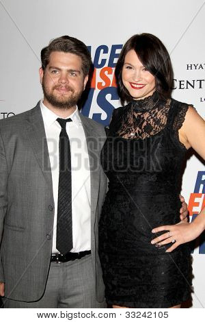 LOS ANGELES - MAY 18:  Jack Osbourne, Lisa Stelly arrives at the 19th Annual Race to Erase MS gala at Century Plaza Hotel on May 18, 2012 in Century City, CA
