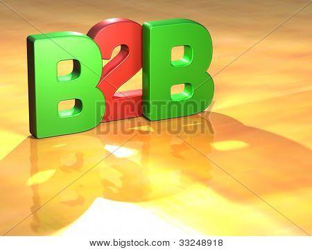 Word B2B On Yellow Background