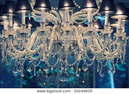 Vintage crystal chandelier.