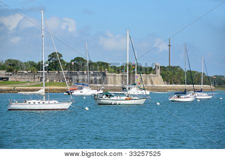 Sailboats Moored