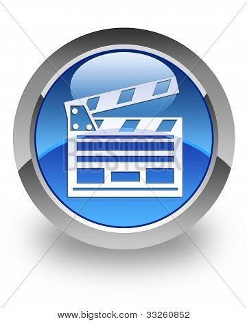 Cinema clipboard glossy icon