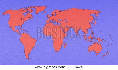 Brushed Metal World Globe