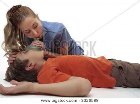 Resuscitating Unconscious Boy